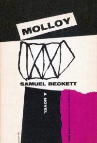 Molloy by Samuel Beckett. Grove Press. 1955. Evergreen Paperback. Cover designed by Roy Kuhlman.