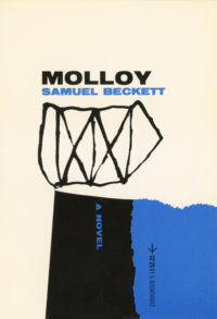 Molloy by Samuel Beckett. Grove Press. 1955; Reprint (print date unknown). Evergreen Paperback. Cover designed by Roy Kuhlman.