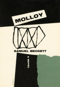 Molloy by Samuel Beckett. Grove Press. 1955. Hardcover. Cover designed by Roy Kuhlman.