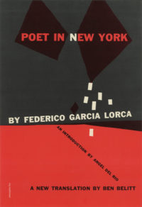 Poet in New York by Federico Garcia Lorca. Grove Press. 1955. Hardcover. Cover designed by Roy Kuhlman.