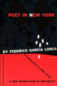 Poet in New York by Federico Garcia Lorca. Grove Press. 1955. Evergreen Paperback. Cover designed by Roy Kuhlman.