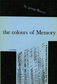 The Colours of Memory by George Reavey. Grove Press. 1955. Evergreen Paperback. Cover designed by Roy Kuhlman.