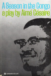 A Season in the Congo by Aime Cesaire. Grove Press, 1969. Cover designed by Roy Kuhlman.