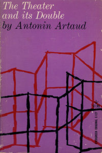 The Theater and Its Double by Antonin Artaud. Grove Press, 1958. Cover designed by Roy Kuhlman.