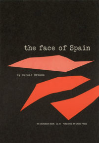 The Face of Spain by Gerald Brenan. Grove Press, 1956. Evergreen paperback. Cover designed by Roy Kuhlman.