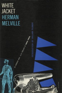 White Jacket by Herman Melville. Grove Press, 1956. Evergreen Paperback. Cover designed by Roy Kuhlman.