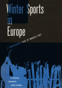 Winter Sports in Europe by Waverley Root. Grove Press, 1956. Hardcover. Cover designed by Roy Kuhlman.
